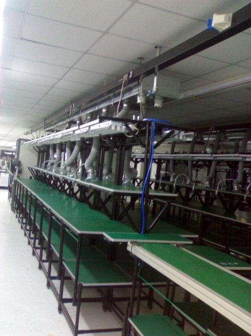 防静电工作台安装铝型材,复合管,组件